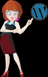wordpress cartoon woman